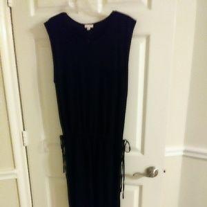 Gap Ladies Black Drop Waist Dress Size XL - new wi
